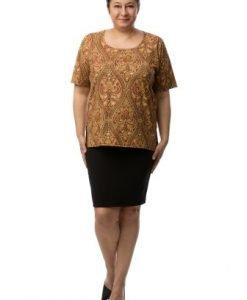 Bluza cu imprimeu multicolor CSF-046 - Marimi mari -