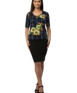 Bluza cu imprimeu multicolor floral CSF-049 - Bluze si topuri -