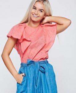 Bluza dama PrettyGirl corai casual cu croi larg din bumbac - Bluze -