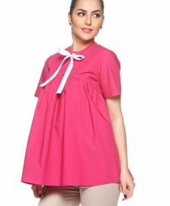 Bluza dama PrettyGirl fuchsia din bumbac cu croi larg - Bluze -