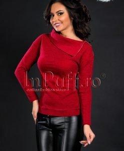 Bluza dama bordo tricot fin subtire - BLUZE -