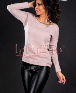 Bluza dama crem-roze - BLUZE -