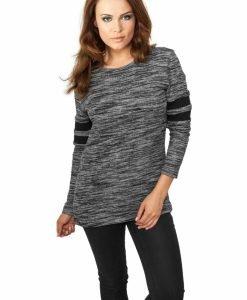 Bluza dama sport cu dungi pe maneci - Bluze urban - Urban Classics>Femei>Bluze urban