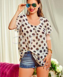Bluza de Vara din Voal cu Buline - Haine - Bluze/Camasi