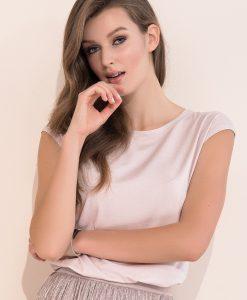 Bluza eleganta Vivian Pink - Haine si accesorii - Tricouri maiouri tunici si pulovere