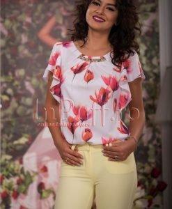 Bluza eleganta de vara cu imprimeu colorat - BLUZE -