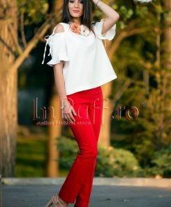 Bluza eleganta lasata pe umeri - BLUZE -
