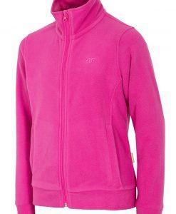 Bluza feece Pink 4F pentru fetite - Haine si accesorii - Imbracaminte sport copii