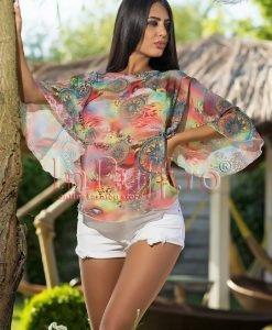 Bluza imprimeu multicolor - BLUZE -