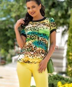 Bluza imprimeu multicolor din bumbac - BLUZE -