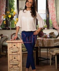 Bluza ivoire cu dantela alba - BLUZE -