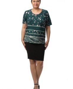 Bluza larguta cu imprimeu CI2019 - Marimi mari -