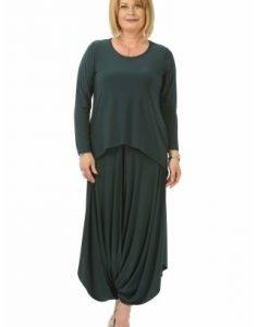 Bluza lejera asimetrica B099-M verde - Marimi mari -