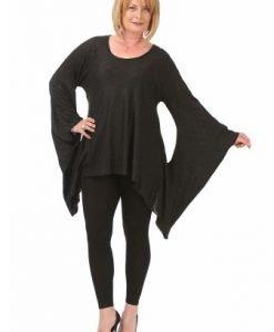 Bluza lejera din vascoza B098-NM negru - Marimi mari -
