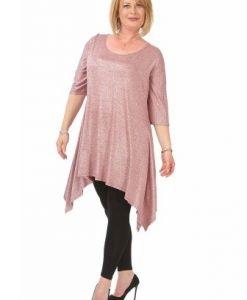 Bluza lejera roz B081-R-M - Marimi mari -