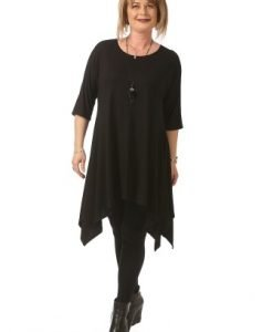 Bluza neagra asimetrica B081-M - Marimi mari -