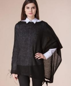 Bluza neagra asimetrica D2203 - Cardigane -