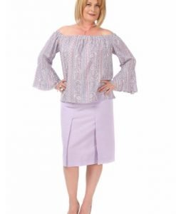 Bluza racoroasa cu imprimeu B102-M - Marimi mari -
