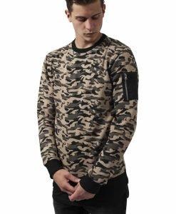 Bluza sport cu imprimeu camuflaj wood-camuflaj Urban Classics - Bluze cu guler rotund - Urban Classics>Barbati>Bluze cu guler rotund