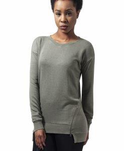 Bluze casual cu fermoar in fata pentru Femei oliv deschis Urban Classics - Bluze urban - Urban Classics>Femei>Bluze urban