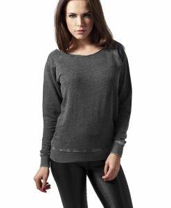 Bluze dama cu guler rotund open - Bluze urban - Urban Classics>Femei>Bluze urban