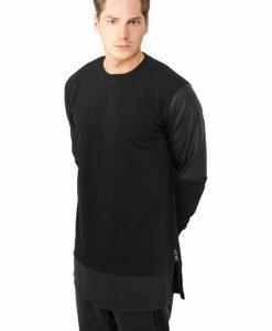 Bluze lungi piele ecologica - Bluze cu guler rotund - Urban Classics>Barbati>Bluze cu guler rotund