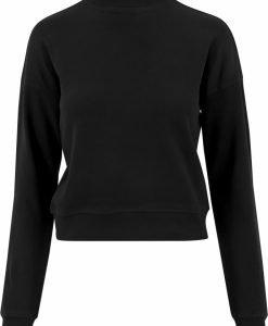 Bluze simple scurte cu maneca lunga pentru Femei negru Urban Classics - Bluze urban - Urban Classics>Femei>Bluze urban