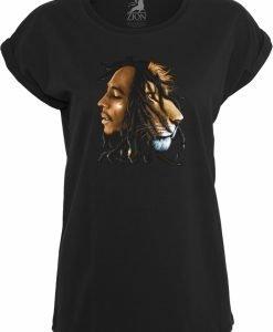 Bob Marley Lion Face Tee pentru Femei negru Mister Tee - Tricouri cu trupe - Mister Tee>Trupe>Tricouri cu trupe