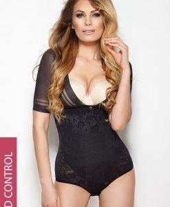 Body Glossy cu efect modelator negru - Lenjerie pentru femei - Efect modelator in zona abdomenului
