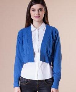 Bolero albastru scurt din tricot 15003 - Bolero -