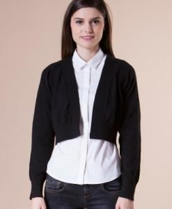 Bolero negru scurt din tricot 15003 - Bolero -