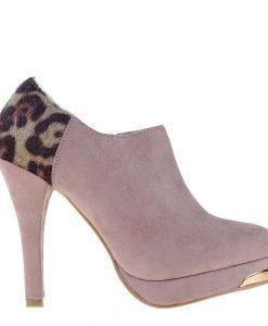Botine dama Wallis roz - Incaltaminte Dama - Botine Dama
