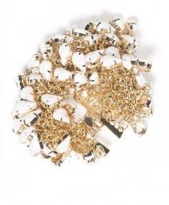 Bratara eleganta cu pietre albe Auriu - Accesorii - Accesorii / Bratari