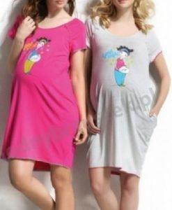 Cămașă de noapte Fiona gri - Produse > Haine pentru gravide > Pijamale -