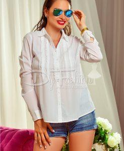 Camasa Alba cu Maneca Lung - Haine - Bluze/Camasi