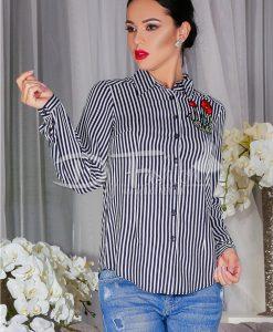 Camasa Angela In Dungi Negre - Haine - Bluze/Camasi