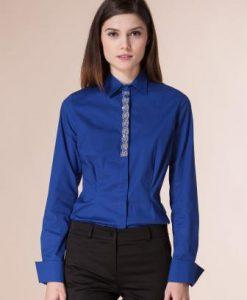 Camasa albastra din bumbac D2232 - Camasi -
