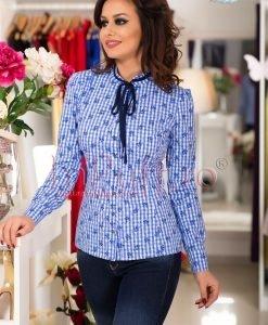 Camasa bleu cu floricele - CAMASI -