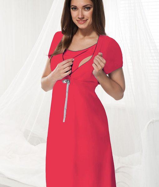Camasa de noapte alaptare Dorota zmeuriu – Lenjerie pentru femei – Lenjerie pentru gravide si mamici