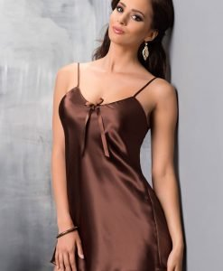 Camasa de noapte eleganta Aria Choco - Lenjerie pentru femei - Neglijeuri de lux