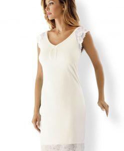Camasa de noapte eleganta Naomi Perla - Lenjerie pentru femei - Neglijeuri de lux