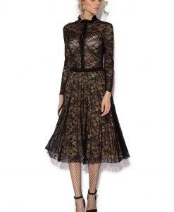 Camasa din dantela neagra Negru - Imbracaminte - Imbracaminte / Camasi