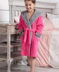 Capot copii Delfino roz - Lenjerie pentru femei - Pijamale si capoate copii