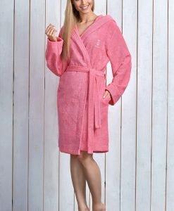 Capot dama Alba Pink cu fibre de bambus - Lenjerie pentru femei - Capoate