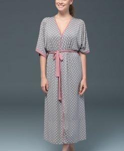 Capot dama Rose Dots - modal - Lenjerie pentru femei - Capoate