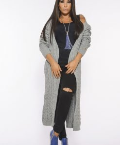 Cardigan MissQ Fall Filter Grey - Pulovere -