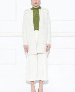 Cardigan alb cu detalii pe umeri Crem - Imbracaminte - Imbracaminte / Jachete si cardigane / Cardigane