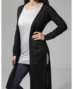 Cardigan lung Fine tricot pentru Femei negru Urban Classics - Pulovere si cardigane - Urban Classics>Femei>Pulovere si cardigane