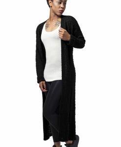 Cardigan lung tricot pentru Femei negru Urban Classics - Pulovere si cardigane - Urban Classics>Femei>Pulovere si cardigane