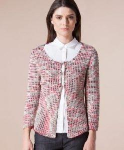 Cardigan multicolor din tricot 13401 - Cardigane -
